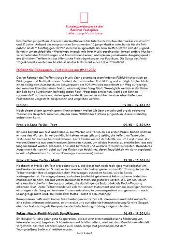 Programm Forum [PDF] - Berliner Festspiele