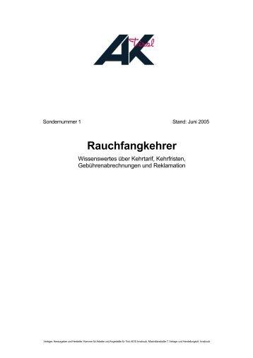 Rauchfangkehrer - Infos - Land Tirol