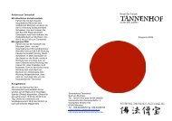 Rinzai-Zen Tempel zu den drei Juwelen Programm 2009 Anfahrt ...