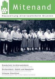 Hauszeitung Ausgabe Nr. 61 vom Juni 2009 - Brunnen