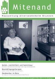 Hauszeitung Ausgabe Nr. 55 vom Dezember 2007 - Brunnen