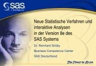 Neue statistische Verfahren und interaktive Analysen in der - SAS-Wiki