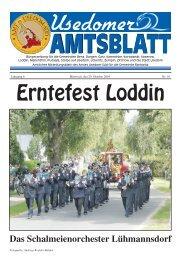 Erntefest Loddin - Amt Usedom Süd
