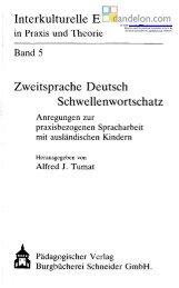Interkulturelle Erziehung Zweitsprache Deutsch Schwellenwortschatz