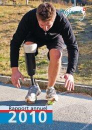 Rapport annuel 2010 - PLUSPORT Behindertensport Schweiz