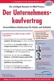 Der Unternehmens- kaufvertrag - Management Circle AG