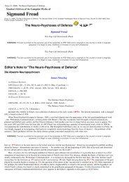 The Neuro-Psychoses of Defence - Dansk Psykoanalytisk Selskab