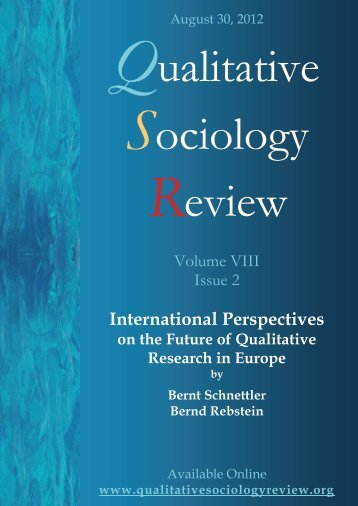 International Perspectives - Qualitative Sociology Review