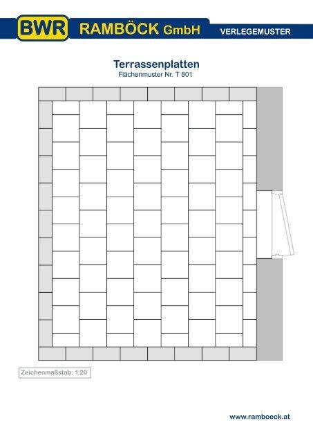 Extrem VERLEGEMUSTER Terrassenplatten YF78