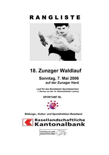 18. Zunzger Waldlauf 2006