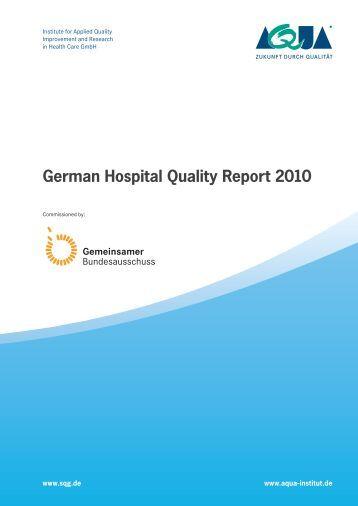 German Hospital Quality Report 2010 (PDF; 8.4 MB
