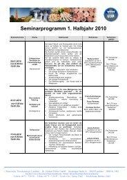 Seminarprogramm 1. Halbjahr 2010 - Fleischerschule