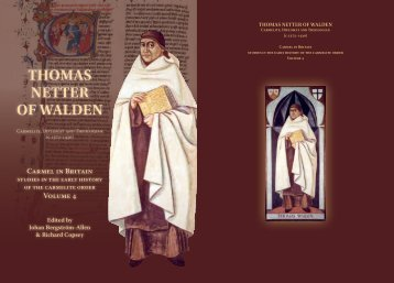 Thomas NeTTer of WaldeN - British Province of Carmelite Friars