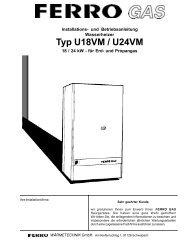 Typ U18VM / U24VM - ferro wärmetechnik