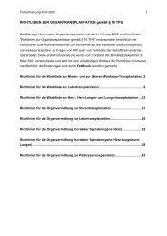 Richtlinien der Bundesärztekammer zur ... - Leber Dialyse