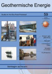 1 Geothermische Energie 59/2008 - Geothermie