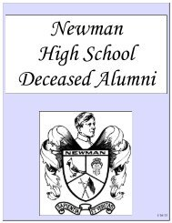 Book of the Deceased Alumni - Newman Catholic Schools