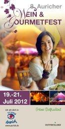 Programm des 8. Auricher Wein- und ... - Aurich Tourismus
