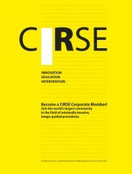 Please klick here to download the Corporate Membership - CIRSE.org