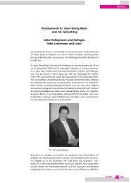 249 Rechtsanwalt Dr. Hans-Georg Meier zum 60. Geburtstag Liebe ...