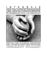 Ausbildungsprospekt - Institut für integrale Pädagogik und ...