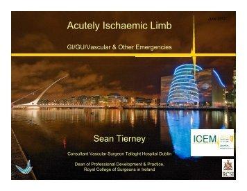 Acutely Ischaemic Limb - MCI