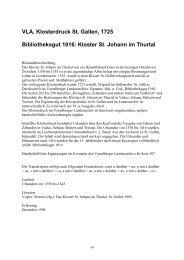 Sankt Johann im Thurtal _CH_, Bibliothektsgut