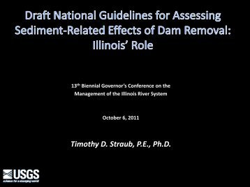 Draft National Guidelines for Assessing Sediment-Related Effects
