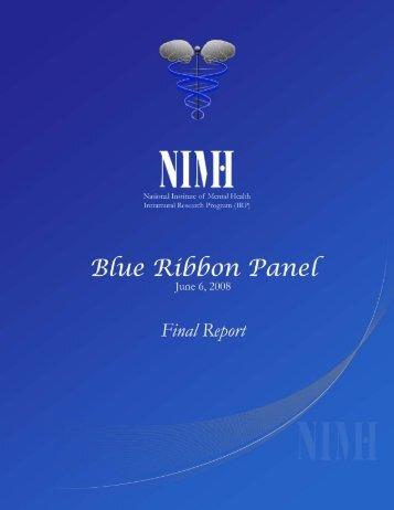 Program Blue Ribbon Panel Recommendations - NIMH - National ...