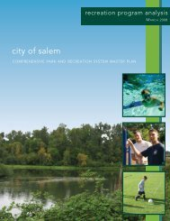 Recreation Program Analysis - City of Salem, Oregon