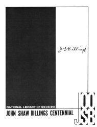 John Shaw Billings Centennial - National Library of Medicine