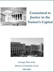 Committed to Justice in the Nation's Capital - Court of Appeals