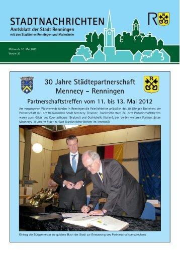 Ausgabe Nr. 20 vom 16.05.2012 - Stadt Renningen