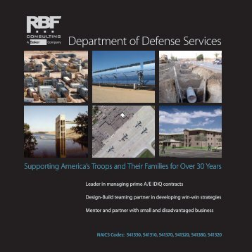 Department of Defense Services - RBF Consulting
