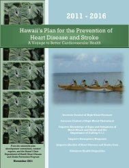 Hawaii's Plan for the Prevention of Heart Disease and ... - Hawaii.gov