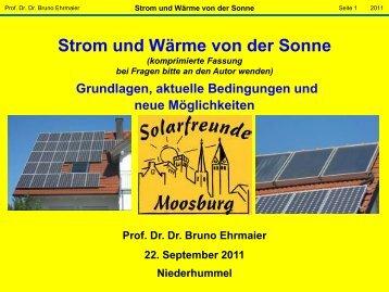 Strom von der Sonne - Solarfreunde Moosburg