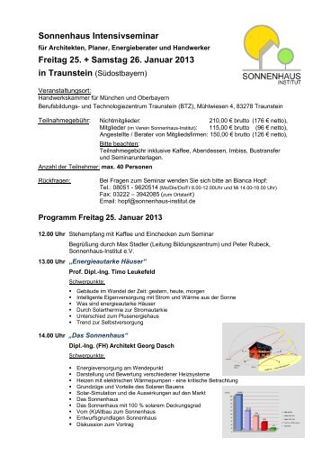 Programm - Sonnenhaus-Institut