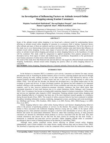 An Investigation of Influencing Factors on Attitude toward Online ...