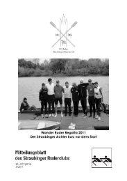 Ausgabe 3-2011 - Straubinger Ruderclub