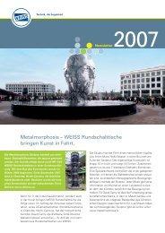 WEISS Rundschalttische bringen Kunst in Fahrt. - Weiss GmbH