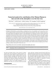 Numerical analysis for contribution of the Tibetan Plateau to dust ...