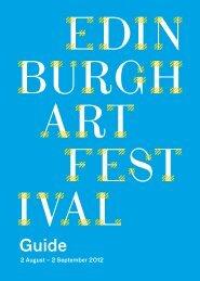 Guide - Edinburgh Art Festival