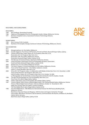 CV - Arc One Gallery