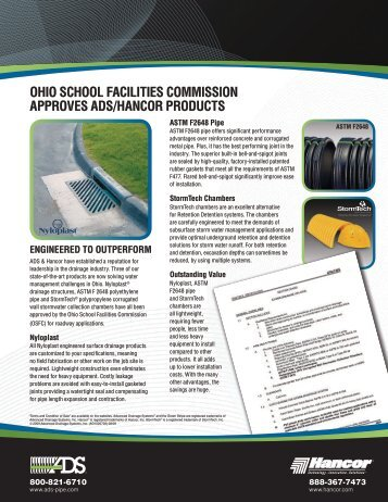 OHIO SCHOOL FACILITIES COMMISSION ... - Hancor Inc.
