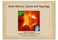 Solar Storms, Cycles and Topology - Lund Space Weather Center
