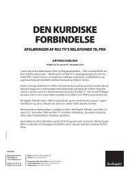 DEN KURDISKE FORBINDELSE - Berlingske