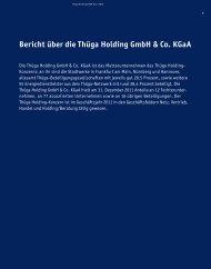 Bericht über die Thüga Holding GmbH & Co. KGaA
