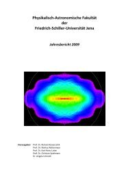 Physikalisch-Astronomische Fakultät - Friedrich-Schiller-Universität ...