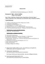 Anwesend: Bgm. Johann Geißler - Wattenberg - Land Tirol