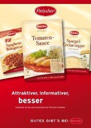 Die neuen Fleischer- Produktveränderungen auf einen Blick